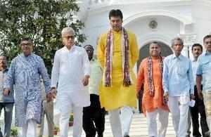 Agartala: Tripura BJP President And Chief Minister Designate Biplab Deb  Along Wi.