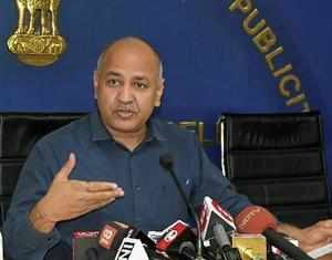 New Delhi: Deputy Chief Minister Manish Sisodia addresses a press conference at ...
