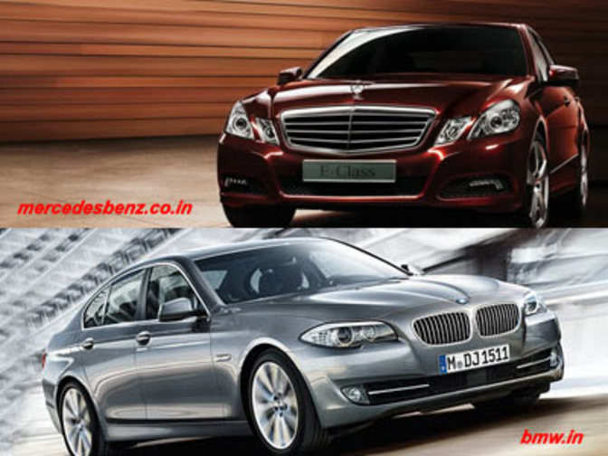 mercedes benz e class vs bmw 5 series the economic times. Black Bedroom Furniture Sets. Home Design Ideas