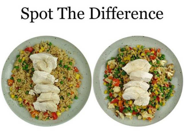 Spot The Difference There Are Hidden Calories In This Salad That