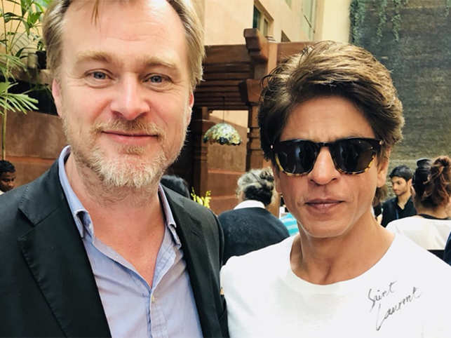 Starstruck Shah Rukh Khan's fanboy moment with Christopher Nolan