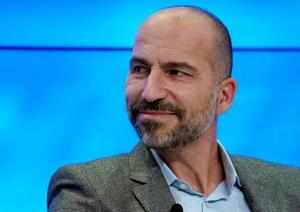 FILE PHOTO - Dara Khosrowshahi, Chief Executive Officer of Uber Technologies, attends the World Economic Forum (WEF) annual meeting in Davos