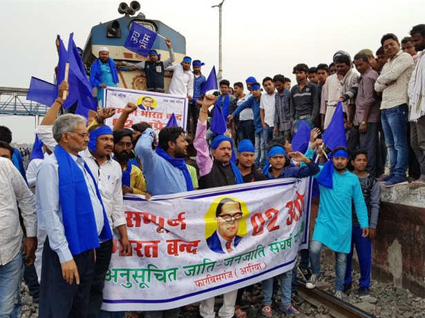 Dalit protests hit normal life in parts of Jharkhand
