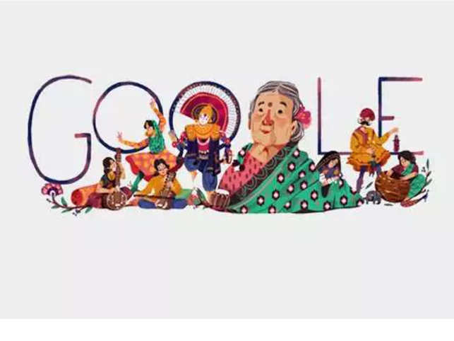 Google remembers activist and freedom fighter Kamaladevi Chattopadhyay in a colourful doodle