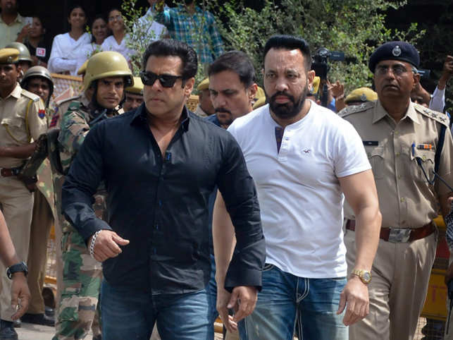 Salman Khan made headlines on Thursday as he was sentenced to five years in prison by a Jodhpur court for his role in the blackbuck killing case of 1998. The Chief Judicial Magistrate, Dev Kumar Khatri, while announcing the verdict, called the actor a 'habitual offender'.  	Salman, dressed in a black shirt and jeans, was seen arriving in court wearing dark glasses. He was flanked by his regular bodyguard Shera, even as 200 cops were deployed to provide security outside the court premises.