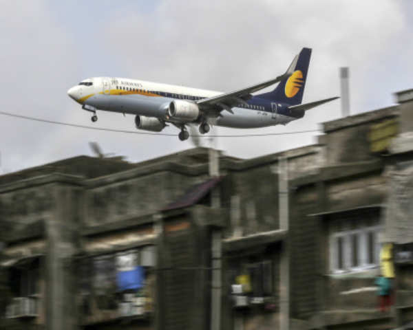 Jet Airways aircraft wing hits food truck at Delhi airport