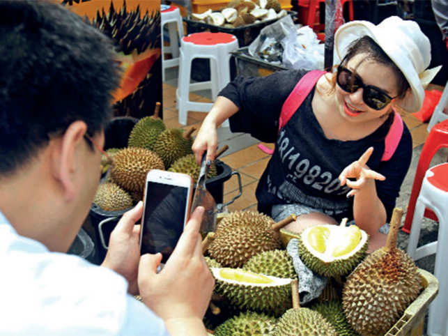 In the regions, where Durian grows, the local growers organise month-long festival celebrating the fruit and a contest to eat it is also held.