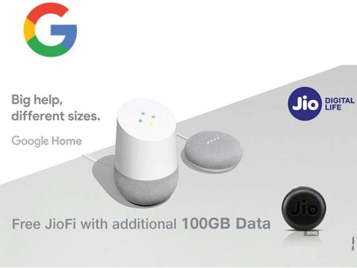 Google Home: JioFi free with Google Home starting at Rs