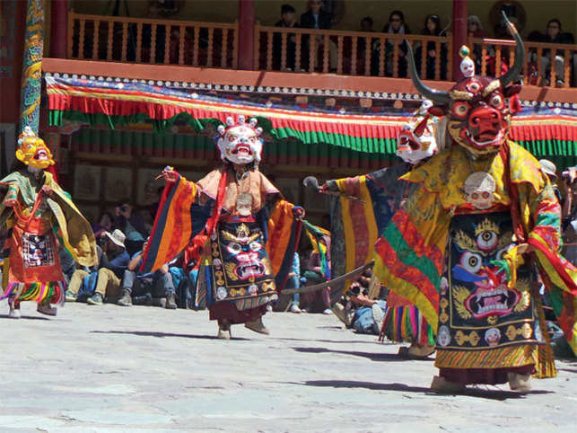 UNIQUE COSTUMES: The dance performance at the Hemis Monastery in Ladakh is one of the most impressive spectacle