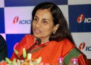 Mumbai: Chairperson of ICICI Securities Ltd Chanda Kochhar addresses during the ...