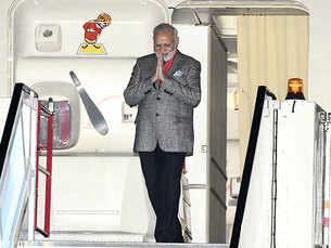 PM Narendra Modi arrives to a warm reception in Sweden
