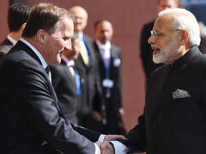 Watch: PM Modi meets his Swedish counterpart Stefan Lofven