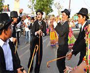 Charlie Chaplin fans parade through Gujarat
