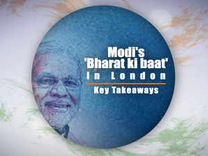 Modi's 'Bharat ki baat' in London: Key takeaways