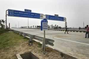 New Delhi: A view of the 135-km long Eastern Peripheral Expressway, construction...