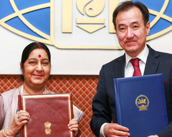 Watch India Mongolia Exchange Agreements To Strengthen Bilateral