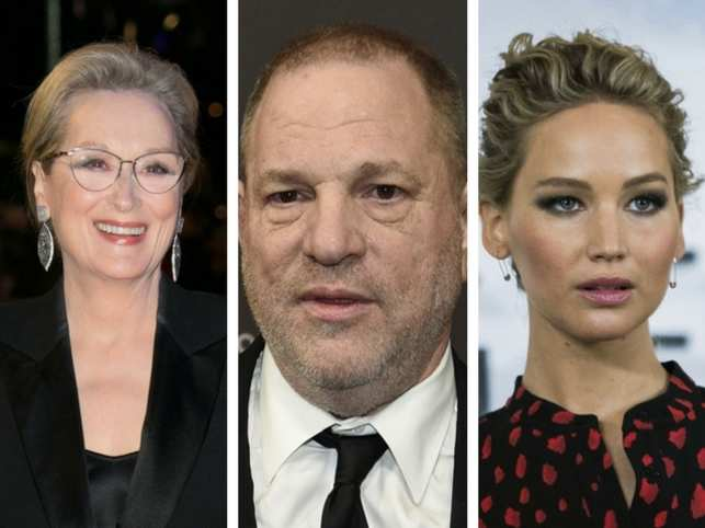 Meryl Streep and Jennifer Lawrence are owed more than $100k each by the Weinstein's company