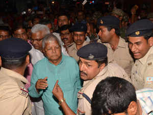 Lalu Prasad discharged from AIIMS, fights with cop at railway station