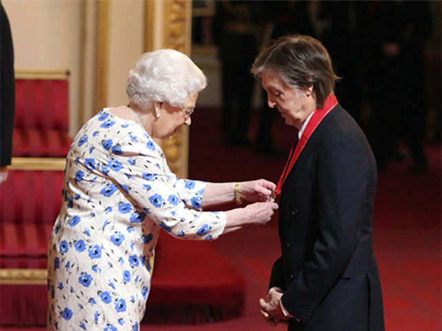 Sir Paul McCartney made Companion of Honour by Queen Elizabeth for his service to music