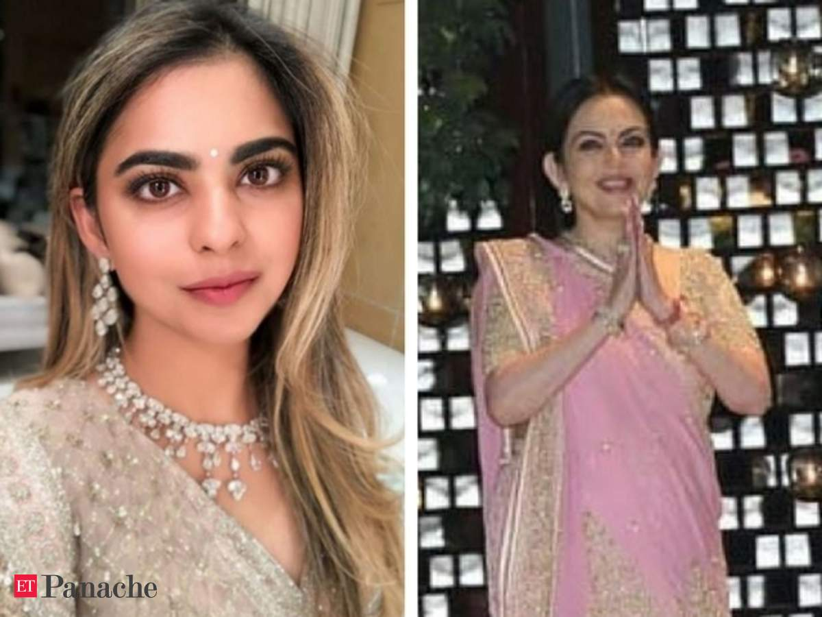 Anil Ambani Isha Ambani Looks Divine At Star Studded Engagement