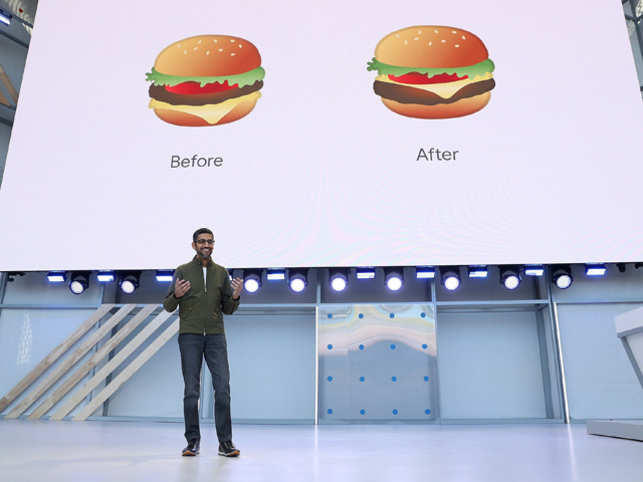 Even before the event kicked off, CEO Sundar Pichai assured fixing bugs in things that matter the most, like burger emoji and floating foam on beer mug emoji.  With 7000 people present at Shoreline Amphitheater for the event this year, Pichai and his team amused the audience with their newly-developed features at Mountain View, California.  Better and smoother updates in AI, Assistant, Photos, News will soon make lives easy for most people.  Missed the live event? Here's a quick round-up of what Google has in store for your in the coming few days, weeks and months.