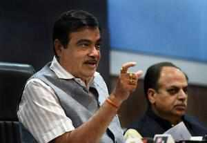 New Delhi: Union Minister of Road Transport and Highways Nitin Gadkari during a ...