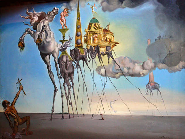 The Temptation of Saint Anthony, 1946 by Salvador Dali (Image: www.dalipaintings.com)