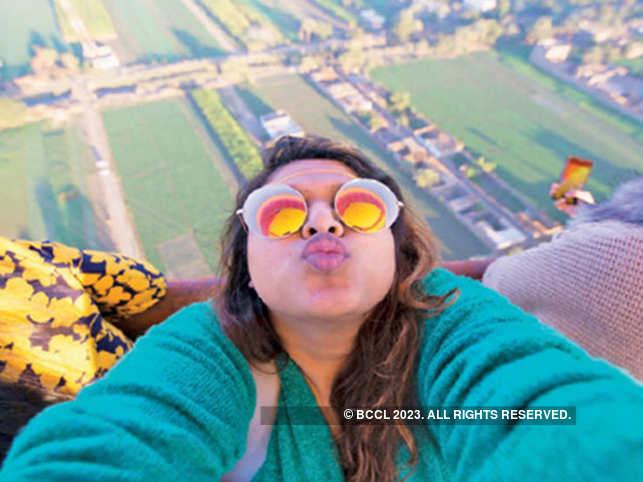 Selfie in a hot air balloon