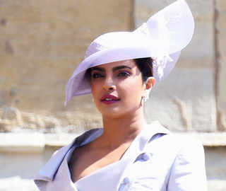 Priyanka Chopra wows in purple dress at Prince Harry and Meghan Markle's royal wedding