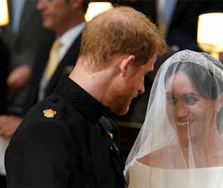 Just Married! Prince Harry, Meghan Markle hold hands at the altar, say 'I do'