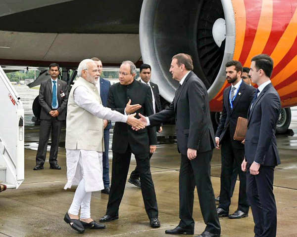 Watch: PM Modi reaches Russia for informal summit with President Putin
