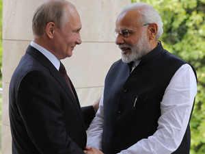 Prime Minister Modi meets Russian President Vladimir Putin