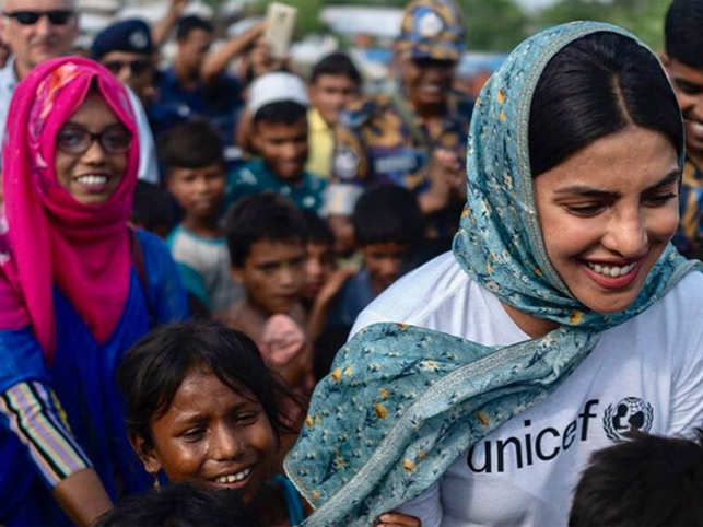 Priyanka Chopra visits Rohingya camps in Bangladesh, urges fans to support children who have no future in sight