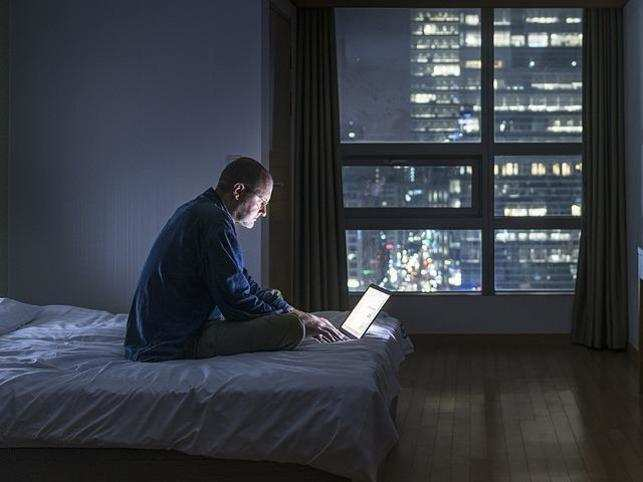 Avoid using tablets before bed time, it can disrupt your healthy sleep cycle