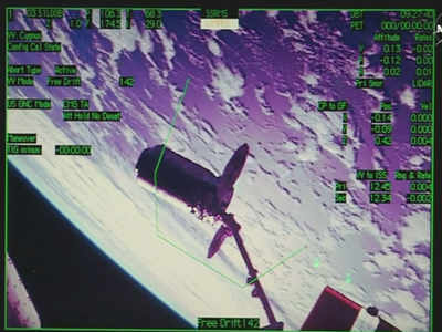 Watch: Cargo ship docks with space station