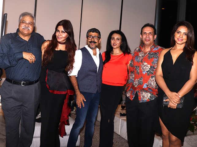 From left: Satish Shah, Nisha JamVwal, Arzan Khambatta, Suchitra Krishnamoorthi, Parvez Damania, and Neetu Chandra at the event.