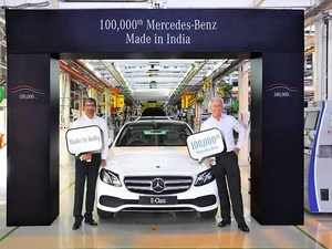 Mercedes clocks production of 1 lakh cars in India