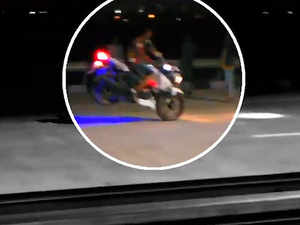 Caught on cam: Bikers' stunts on Eastern Peripheral Expressway a day before launch by PM Modi