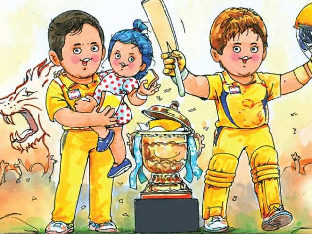 Amul's new cartoon captures CSK's IPL win perfectly with Ziva Dhoni & Shane Watson