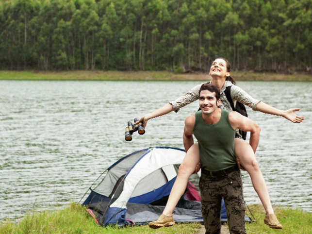 Camp by the Pavana Lakeside and wake up at the break of dawn.