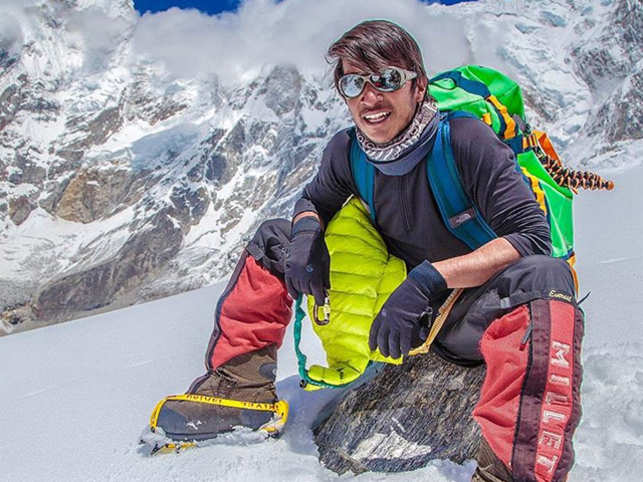 Tricky weather and terrain forced mountaineer Arjun Vajpai to spend an entire night in a helicopter