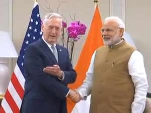 PM Modi meets meets US Defence Secretary Jim Mattis