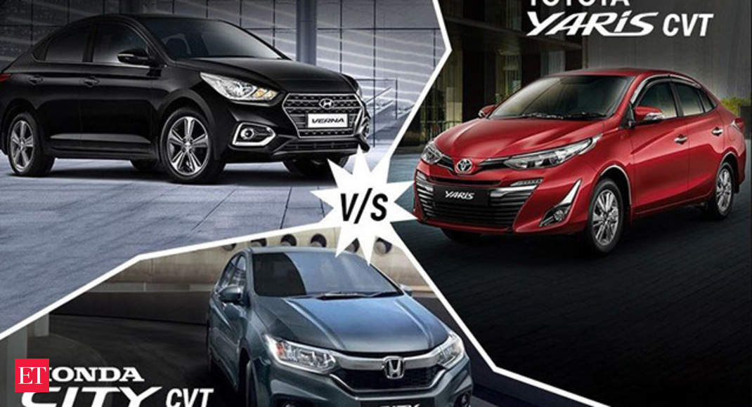 Autocar Show Toyota Yaris Vs Honda City Vs Hyundai Verna The