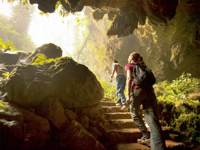 FASCINATING CAVES: Black Hole Drop excursion in Belize is known for its caving adventure activities. Traverse the foothills of the Maya Mountains before rappelling 300 feet down through the rainforest canopy into the cave called Actun Loch Tunich and the river that shares its name. Experience the sights and sounds of the forest and its caves