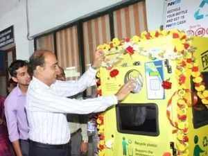 Now drop plastic bottle in the crusher and earn Rs 5 cashback