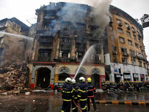 Mumbai: Massive Fire breaks out in Kothari building; two firefighters injured