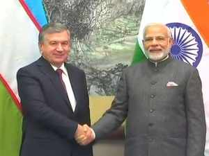 Qingdao SCO summit: PM Modi meets Uzbekistan President Shavkat Mirziyoyev