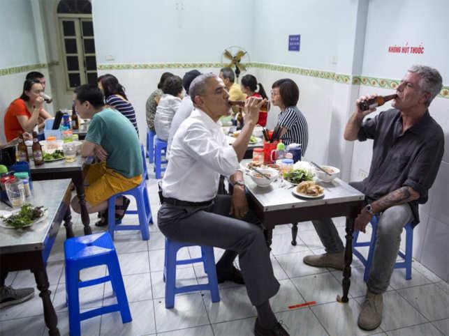 ObamaBourdain