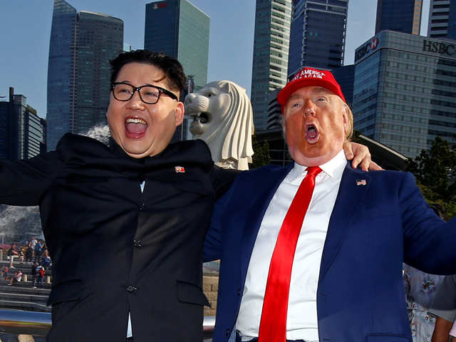 Singapore circus: Fakes of the world have something to say to Donald Trump and Kim Jong-un
