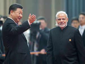 Narendra Modi & Xi Jinoing